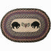 Black Bears Oval Patch Rug by Capitol Earth Rugs