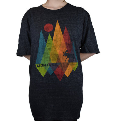 Black Shard Mountain Moose T-Shirt by Lakeshirts