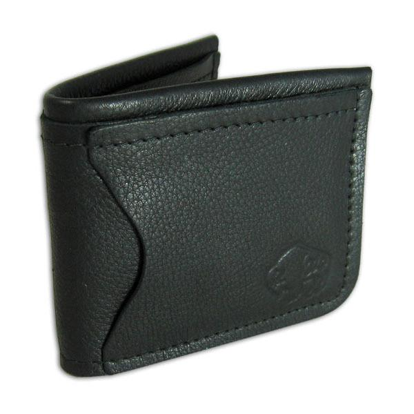 Black Leather Traveler's Wallet by The Leather Store