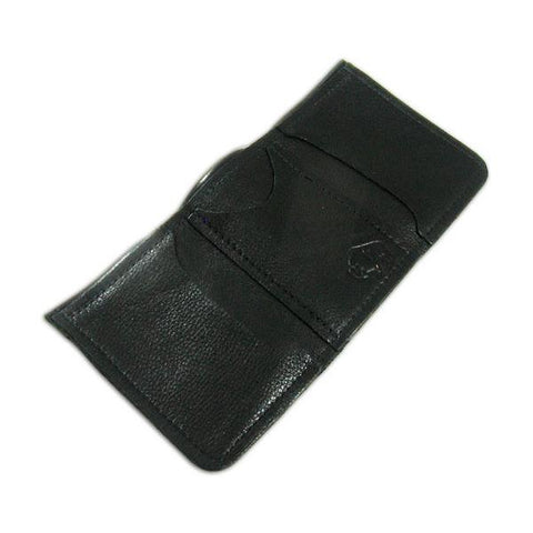 Black Tri-Fold Bison hide Wallet by The Leather Store