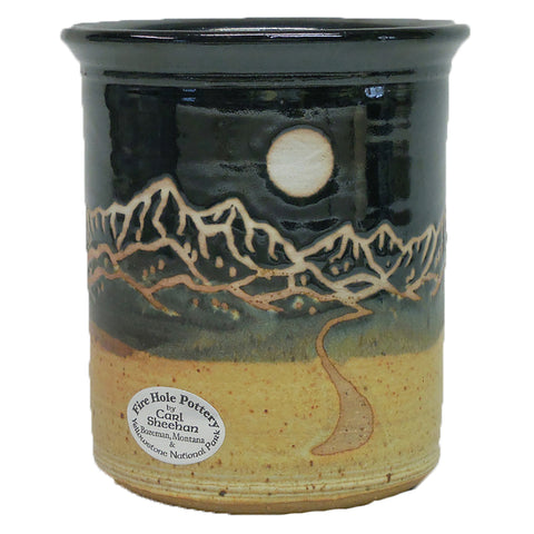 Moon Over Montana Utensil Holder by Fire Hole Pottery