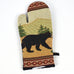 Black Bear Montana Wildlife Oven Mitts by Kinara Fine Weaving
