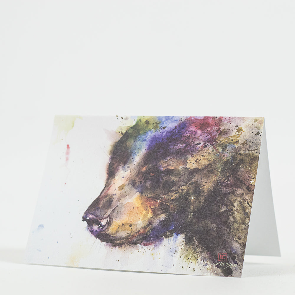 Black Bear Wildlife Watercolor Greeting Cards by Dean Crouser at Montana Gift Corral