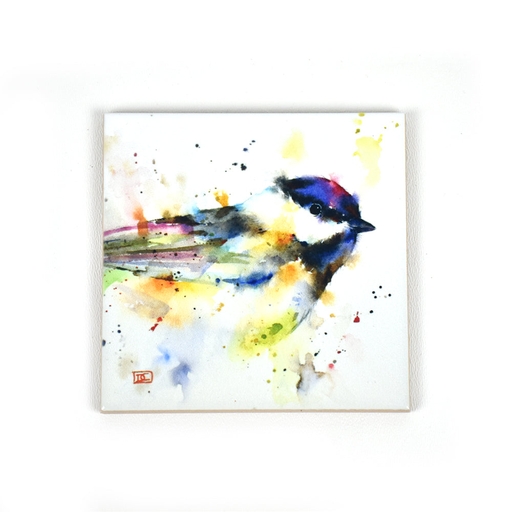 Ceramic Watercolor Coasters by Dean Crouser