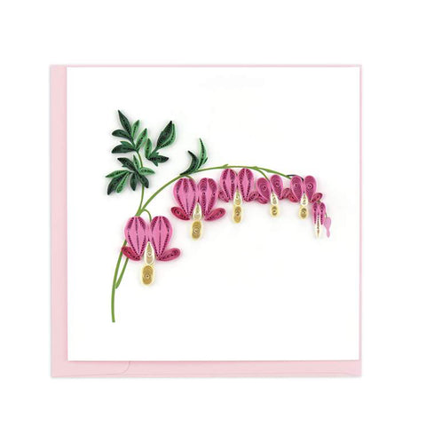 The Bleeding Hearts Greeting Card by Quilling Card is great for a springtime greeting!