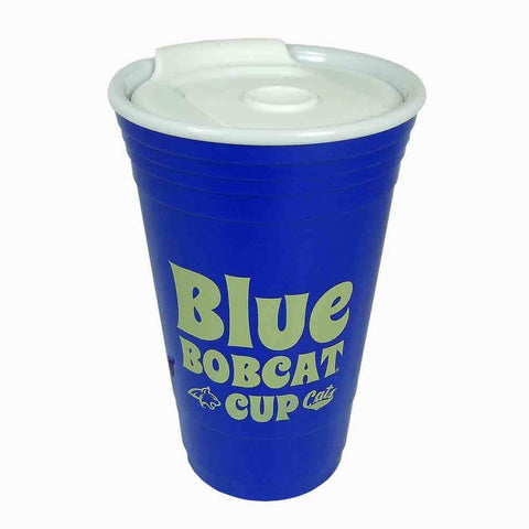 Blue Bobcat Cup with Lib 16oz