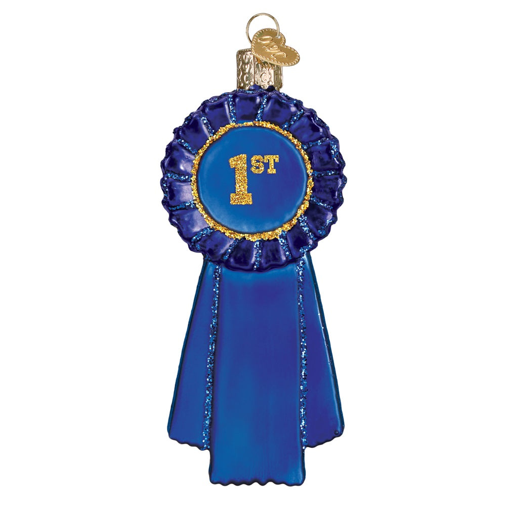 Blue Ribbon Ornament by Old World Christmas