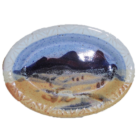Blue Skies Soap Dish by Fire Hole Pottery