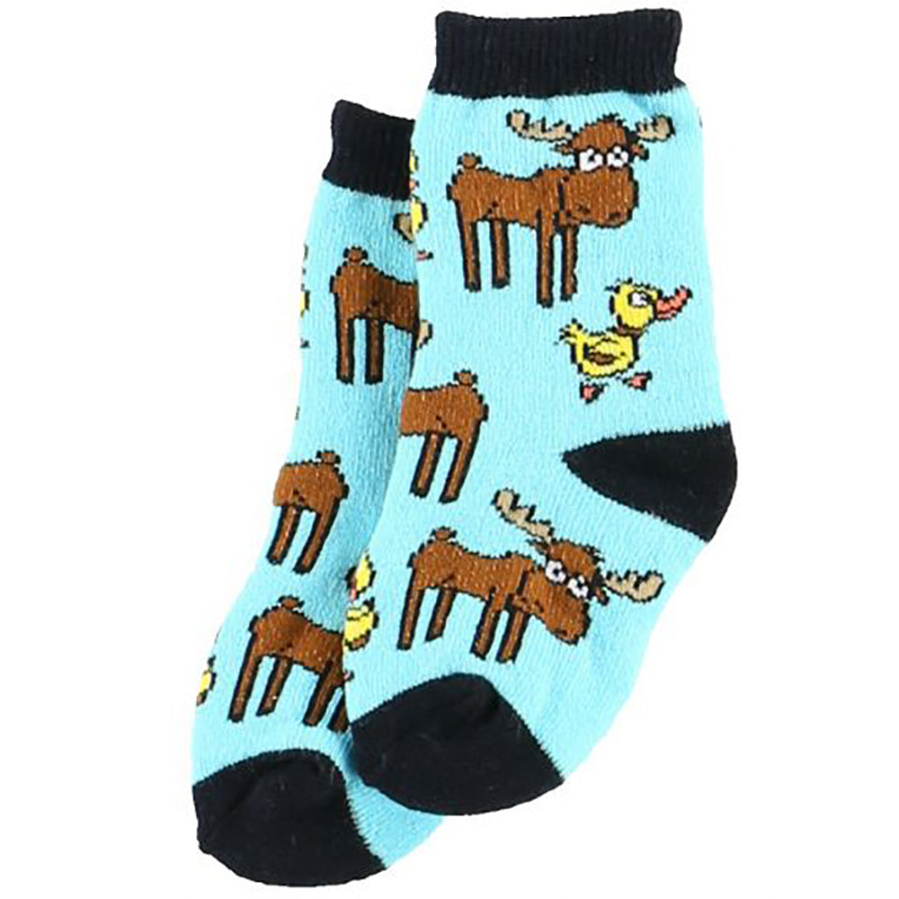 Blue Duck Moose Infant and Child Socks by Lazy One