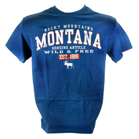Blue and Smoke Moose Montana T-Shirt and Hoodie Combo