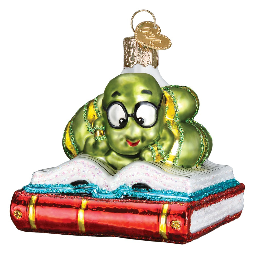 Bookworm Christmas Ornament by Old World Christmas