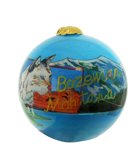 Bozeman Montana Christmas Ornament