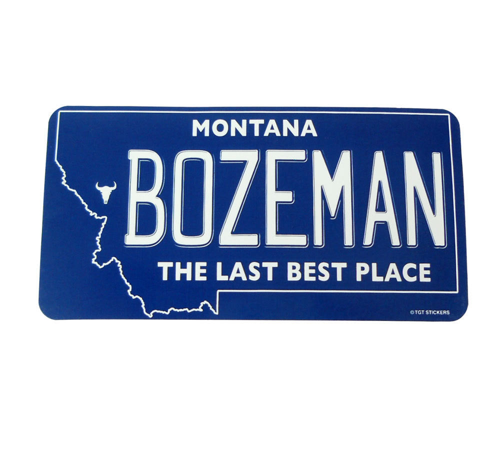 Bozeman Montana License Plate Sticker