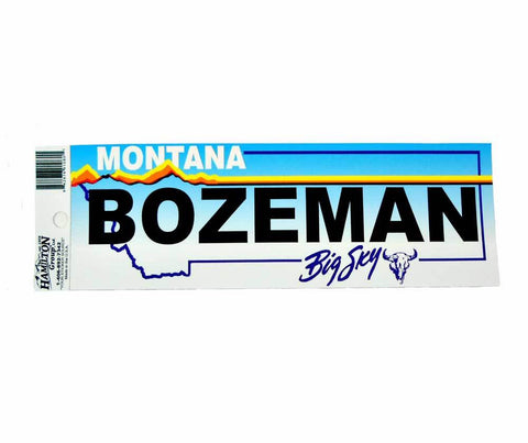 Bozeman on Montana Licnese Plate Sticker