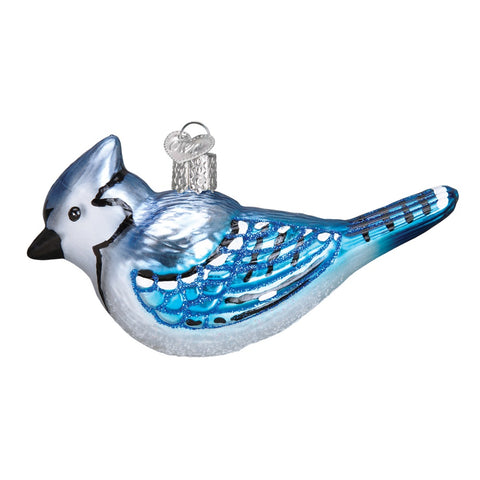 Bright Blue Jay Christmas Ornament by Old World Christmas