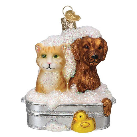 Bubble Bath Buddies Ornament by Old World Christmas