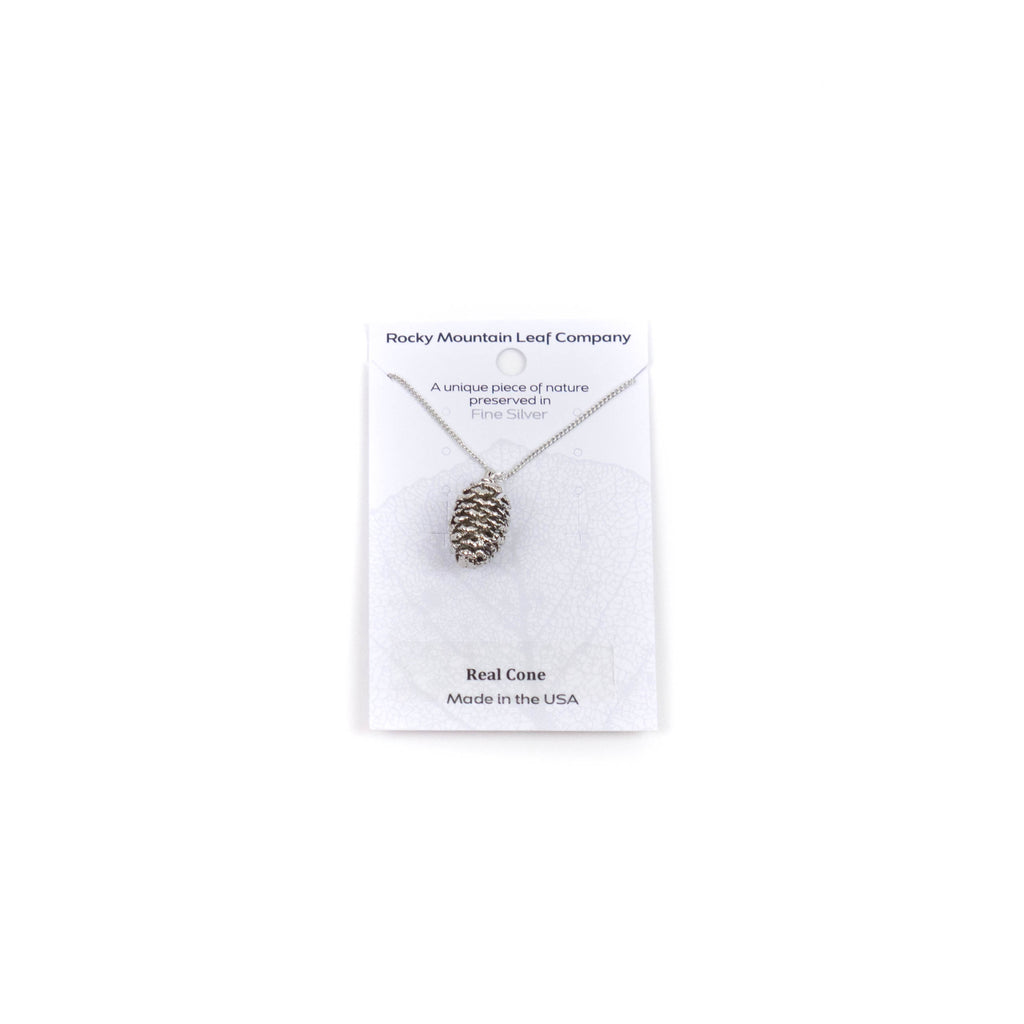 Silver Cone Necklace by Rocky Mountain Leaf Company