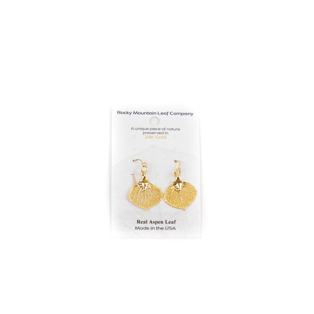 Gold Aspen Wire Earrings by Rocky Mountain Leaf Company