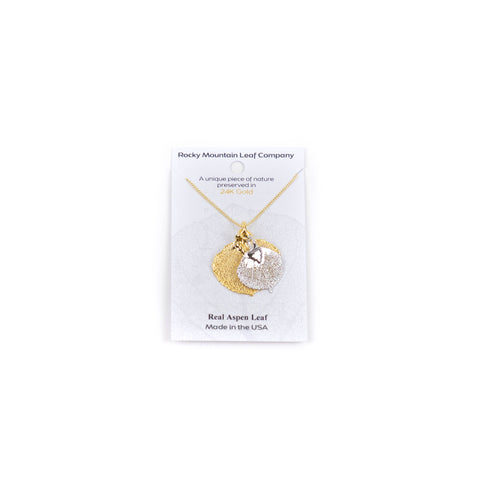 Gold and Silver Aspen Double Necklace by Rocky Mountain Leaf Company
