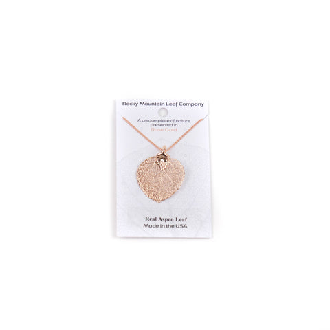 Rose Gold Aspen Necklace by Rocky Mountain Leaf Company