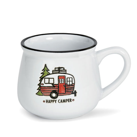 Say hello to the cutest mug ever! The Campfire Mug by Big Sky Carvers is great for hot beverages and looks nice inside any home, cabin, or camper!