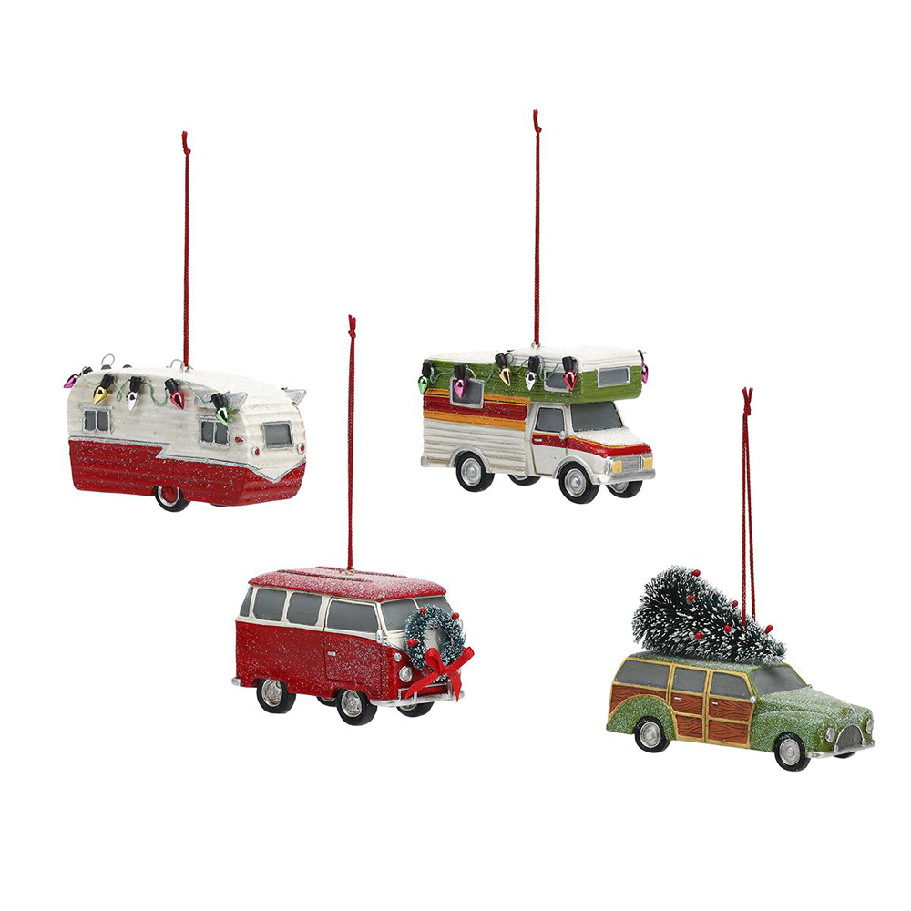 Assorted Camper Ornaments by Big Sky Carvers