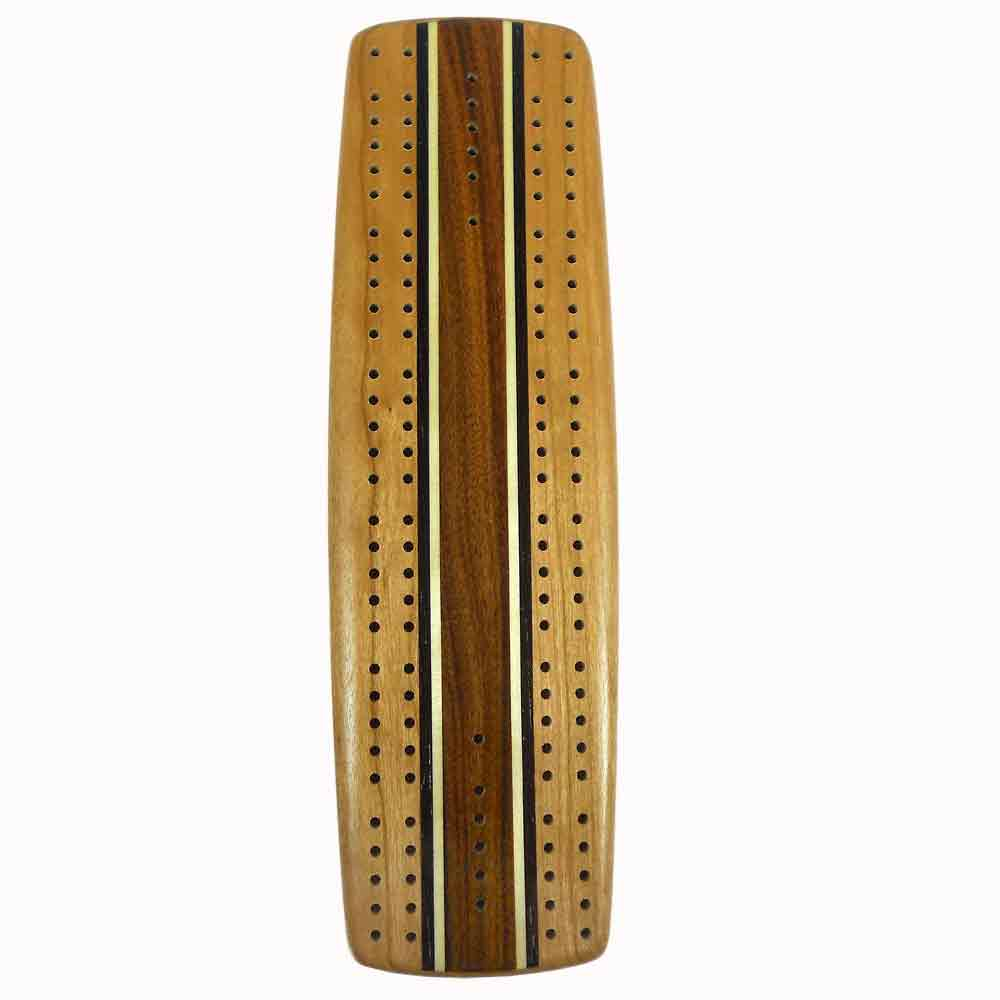 Cherry Marquetry Cribbage Board by Heartwood Creations Inc.