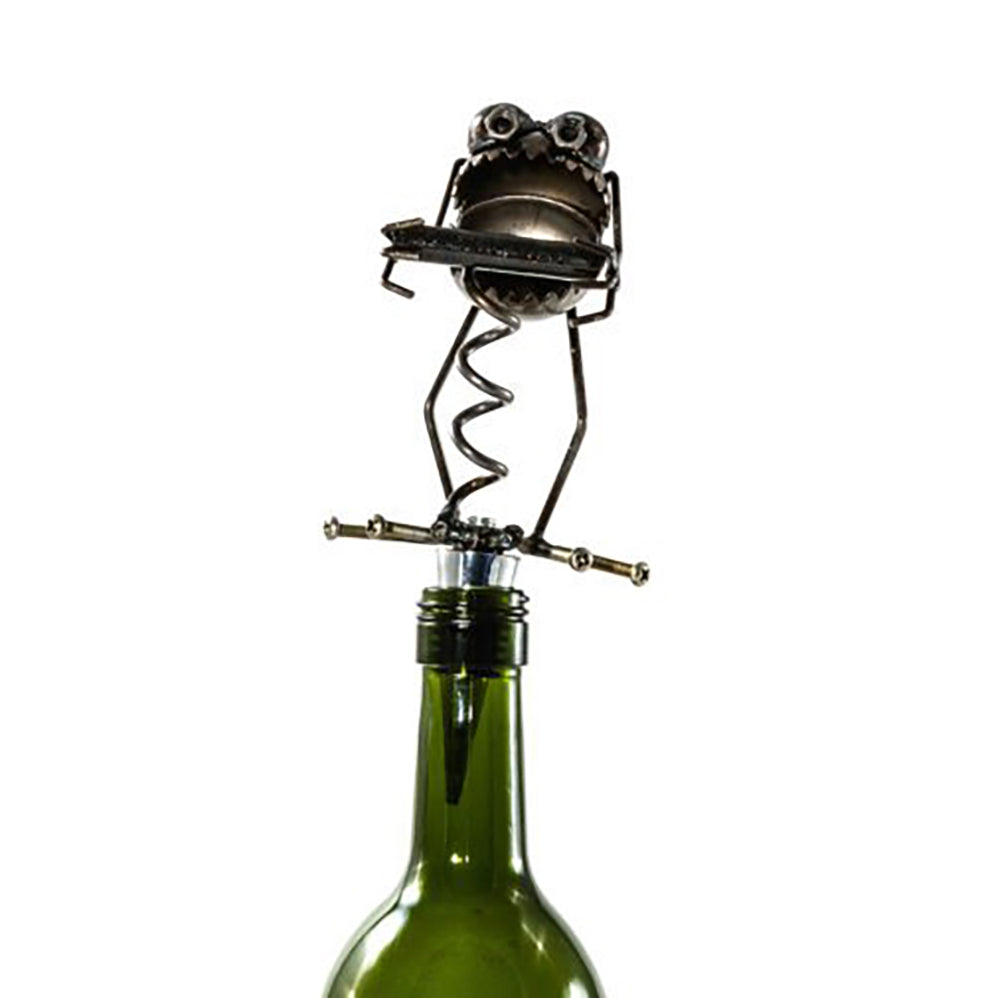 Gnome Be Gone Chugger Corkscrew Wine Stopper by Fred Conlon by Sugarpost at Montana Gift Corral