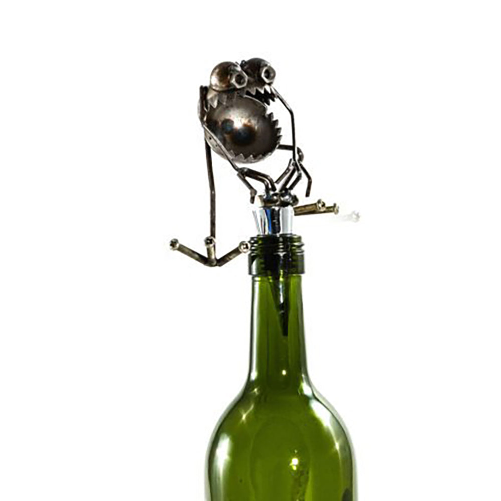 Gnome Be Gone Chugger the Bugger Wine Stopper by Fred Conlon from Sugarpost at Montana Gift Corral