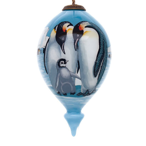 The Persis Clayton Emperor Family Christmas Ornament by Inner Beauty reminds everyone to stay warm this holiday season!