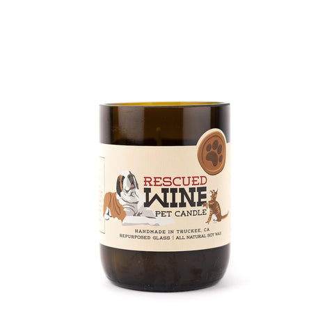 Fill the air with the amazing scent of the Clean Home Soy Candle by Rescued Wine!