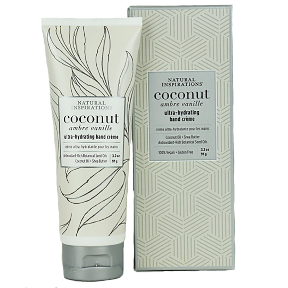 Coconut Ambre Vanille Ultra-Hydrating Hand Creme by Natural Inspirations