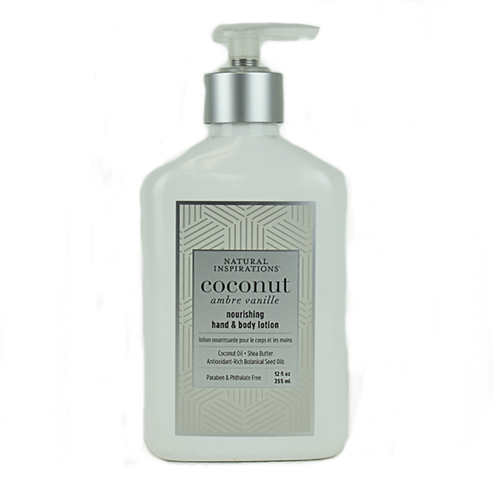 Coconut Ambre Vanille Nourishing Hand and Body Lotion by Natural Inspirations