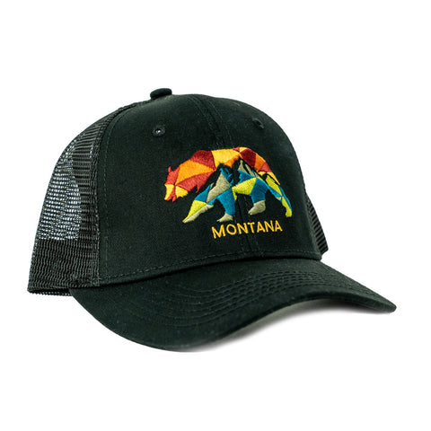 Get ahead on your summer wear this season with the Black Remnant Bear Mountains Montana Cap by Lakeshirts!