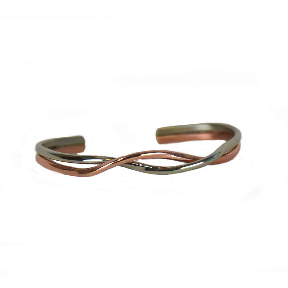 Copper Silver Dance Bracelet by Sergio Lub Jewelry