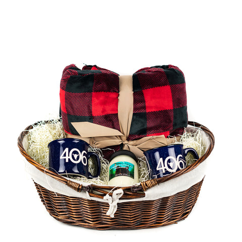 Cozy Gift Basket by Montana Gift Corral