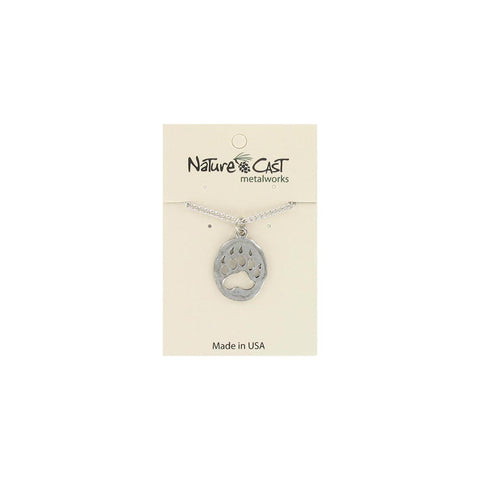 Cutout Bear Paw Pendant by Nature Cast Metalworks
