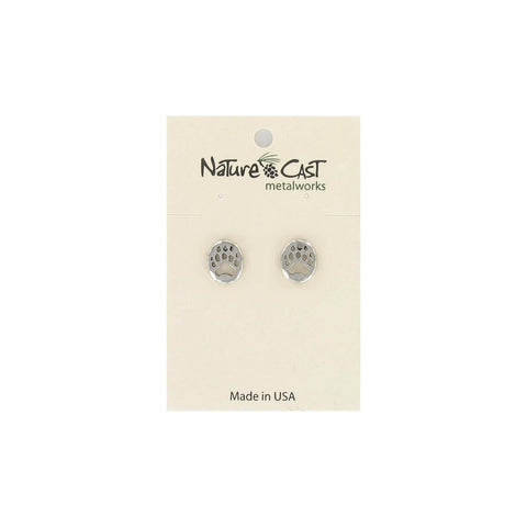 Bear Paw Post Earrings by Nature Cast Metalworks