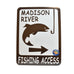 Front Madison Fishing Access Signs by Signs of the Mountains at Montana Gift Corral