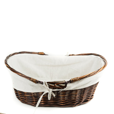 Dark Willow Basket with White Liner