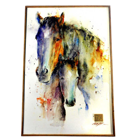 A Mother's Love Mare & Foal Wall Art by Dean Crouser