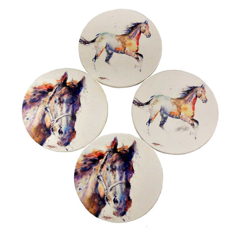 Horses Coaster Set by Dean Crouser