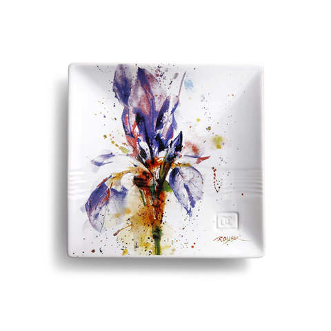Iris Snack Plate by Dean Crouser