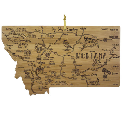 Destination Montana Cutting Board by Totally Bamboo