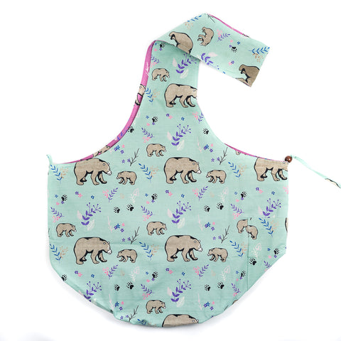 DK Pink/Mint Bear Printed Sling Bag by Art Studio Company