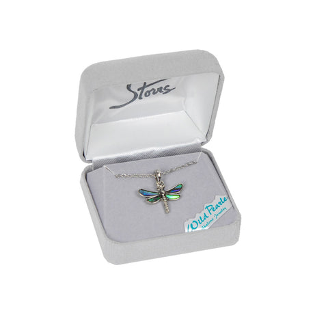 Show your love of these fascinating creatures with the Wild Pearle Dragonfly Necklace by A.T. Storrs!
