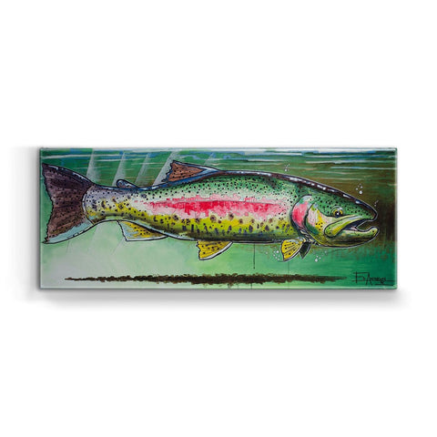 Ed Anderson Rainbow Trout Metal Box Wall Art by Meissenburg Designs