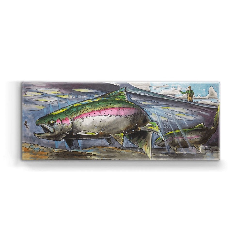 Ed Anderson Rainbow and Nymphs Metal Box Wall Art by Meissenburg Designs