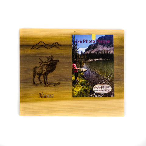 Elk Rainbow Wood Vertical Frame