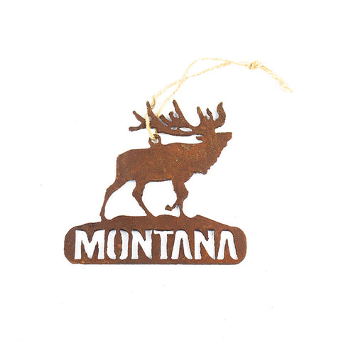 Elk Rustic Metal Montana Ornament by Recherche Furnishings